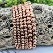 Load image into Gallery viewer, PLAIN ROSE GOLD-FILLED BEAD BRACELET - MICHAEL K. JEWELERS