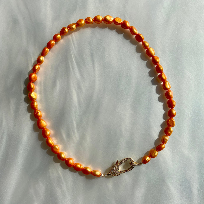 For the Love of Pearls Orange