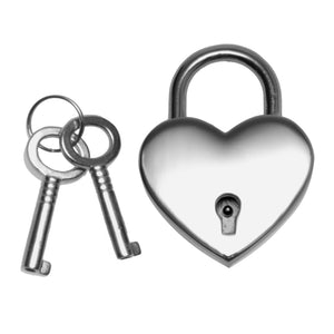 Unbranded Heart Shaped Nickle Polished Padlock AA153,Gifts For Couples
