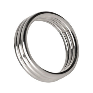 Master Series Echo 1.75 Inch Stainless Steel Triple Cock Ring AD129-SM,Metal Cock Rings