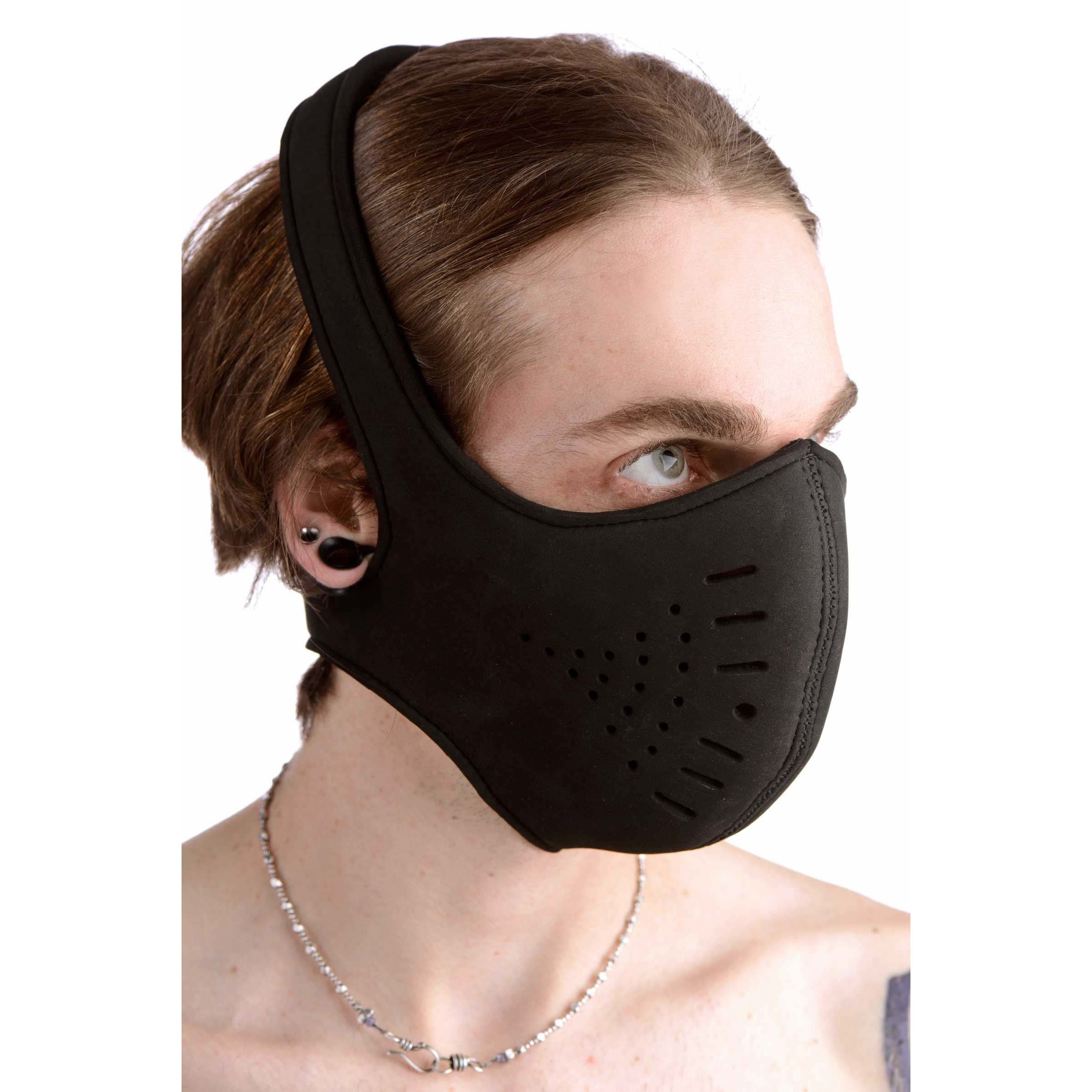 Strict Leather Neoprene Snap On Face Mask AD635,Masks