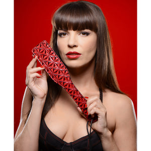 Master Series Crimson Tied Steel Enforced Spanking Paddle AE146,Paddles