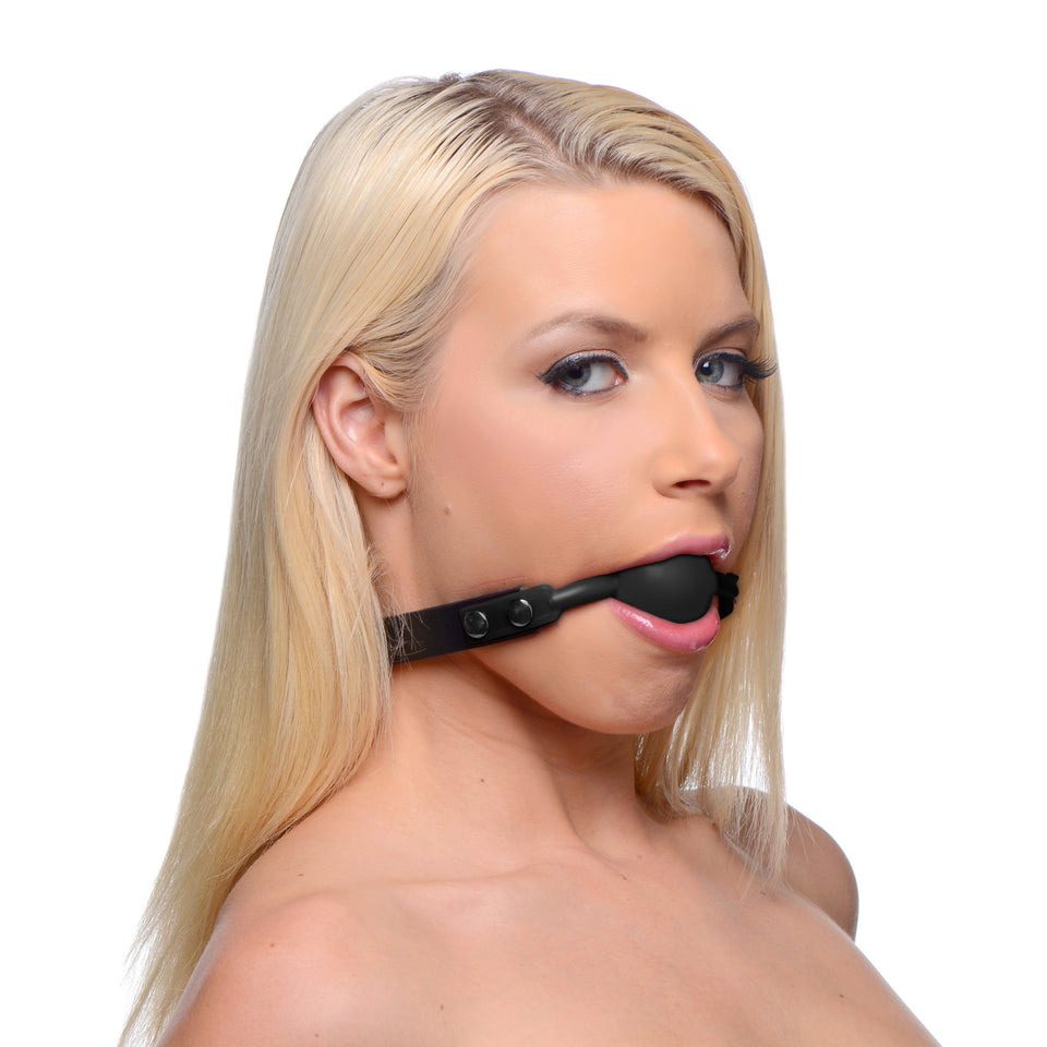 Master Series Premium Hush Locking Silicone Comfort Ball Gag AE236,Master Series
