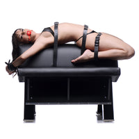 Master Series Ultimate Dungeon Essentials Kit with Bondage Horse AE442,Ankle and Wrist Restraints