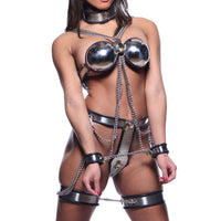 Master Series Female Chastity Full Body Steel Bondage Restraints AE370,XR Brands