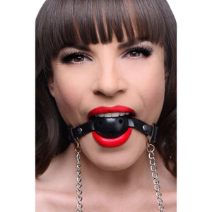 Frisky Breathable Ball Gag with Nipple Clamps AE402,Beginner Bondage