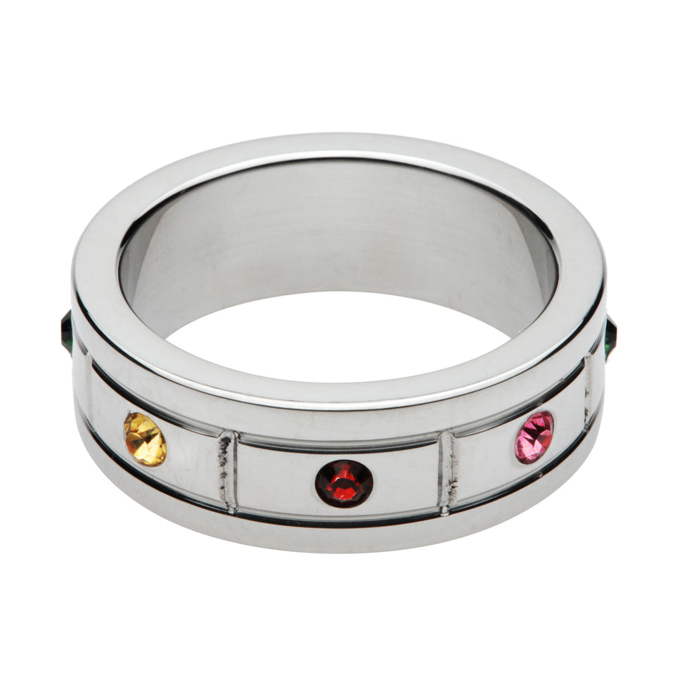 Master Series Jeweled Cock Ring- 1.95 Inch AE471-ML,Metal Cock Rings