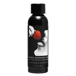 Earthly Body 2 Ounce Edible Massage Oil- Strawberry AE725-Straw,Earthly Body