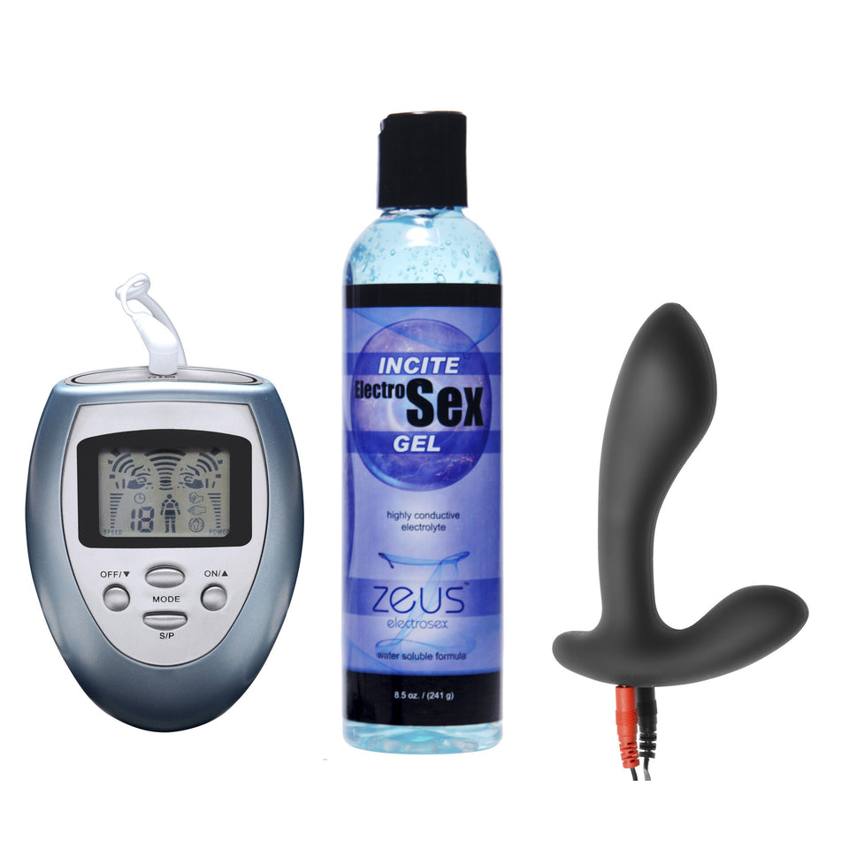 Zeus Electrosex Electrify Your Prostate Silicone Estim Kit AE781,Gifts For Him