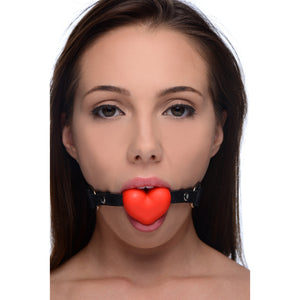 Frisky Heart Beat Silicone Heart Shaped Mouth Gag AF139,Gifts For Couples