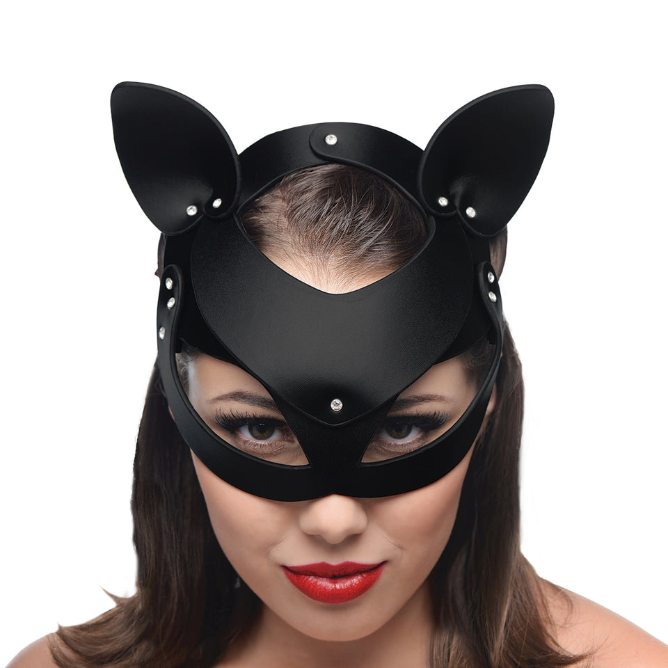 Master Series Bad Kitten Leather Cat Mask AF845,Masks