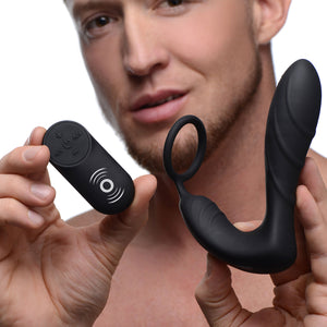 Under Control Silicone Prostate Vibrator and Strap with Remote Control AF871,Anal Vibrators