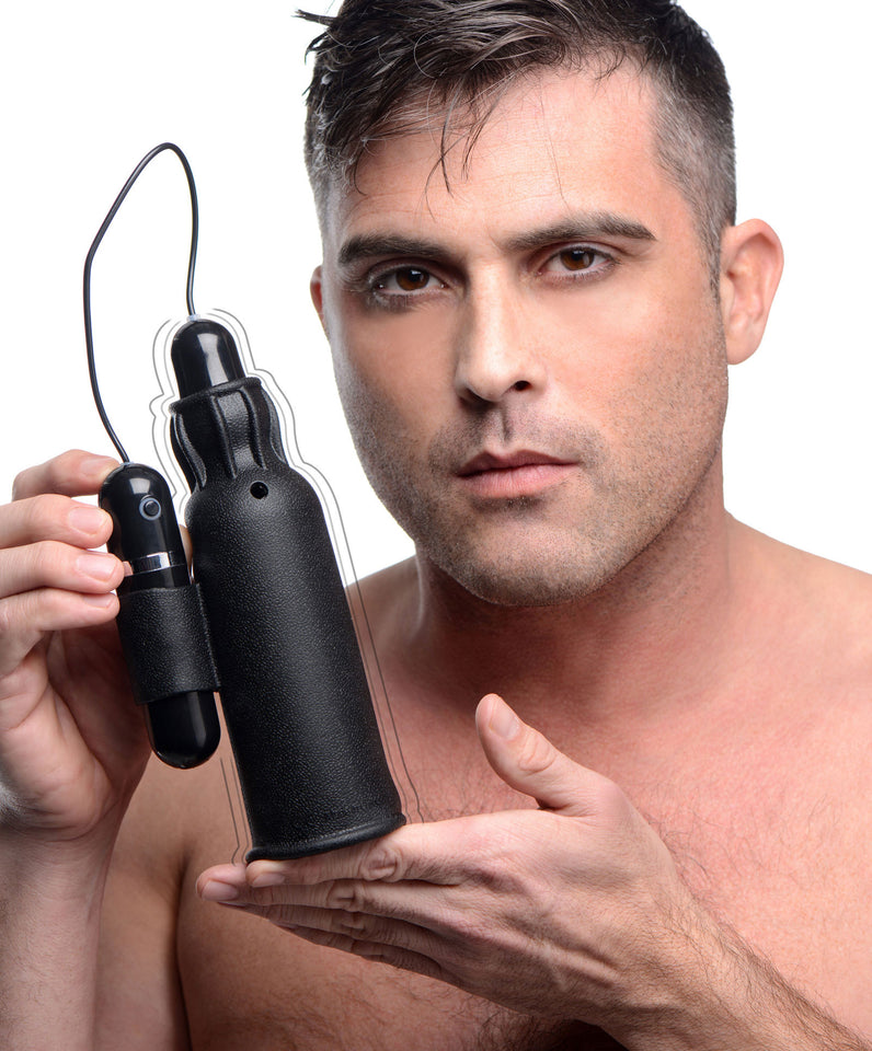 Trinity Vibes Lightning Stroke Silicone Stroker With Vibrating Bullet AF915,Silicone Vibrators
