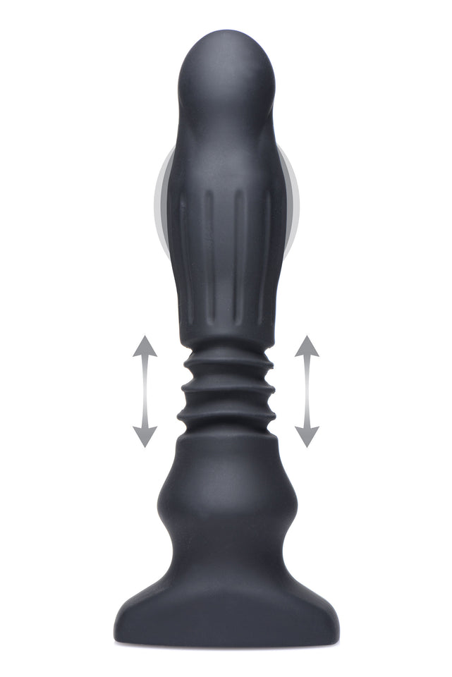 Thunderplugs Silicone Swelling and Thrusting Plug with Remote Control AF949,Anal Vibrators