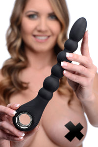 Master Series Dark Scepter 10X Vibrating Silicone Anal Beads AF957,Anal Vibrators