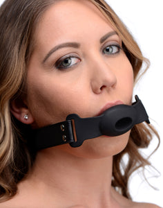 STRICT Hollow Silicone Gag AF967,Mouth Gags