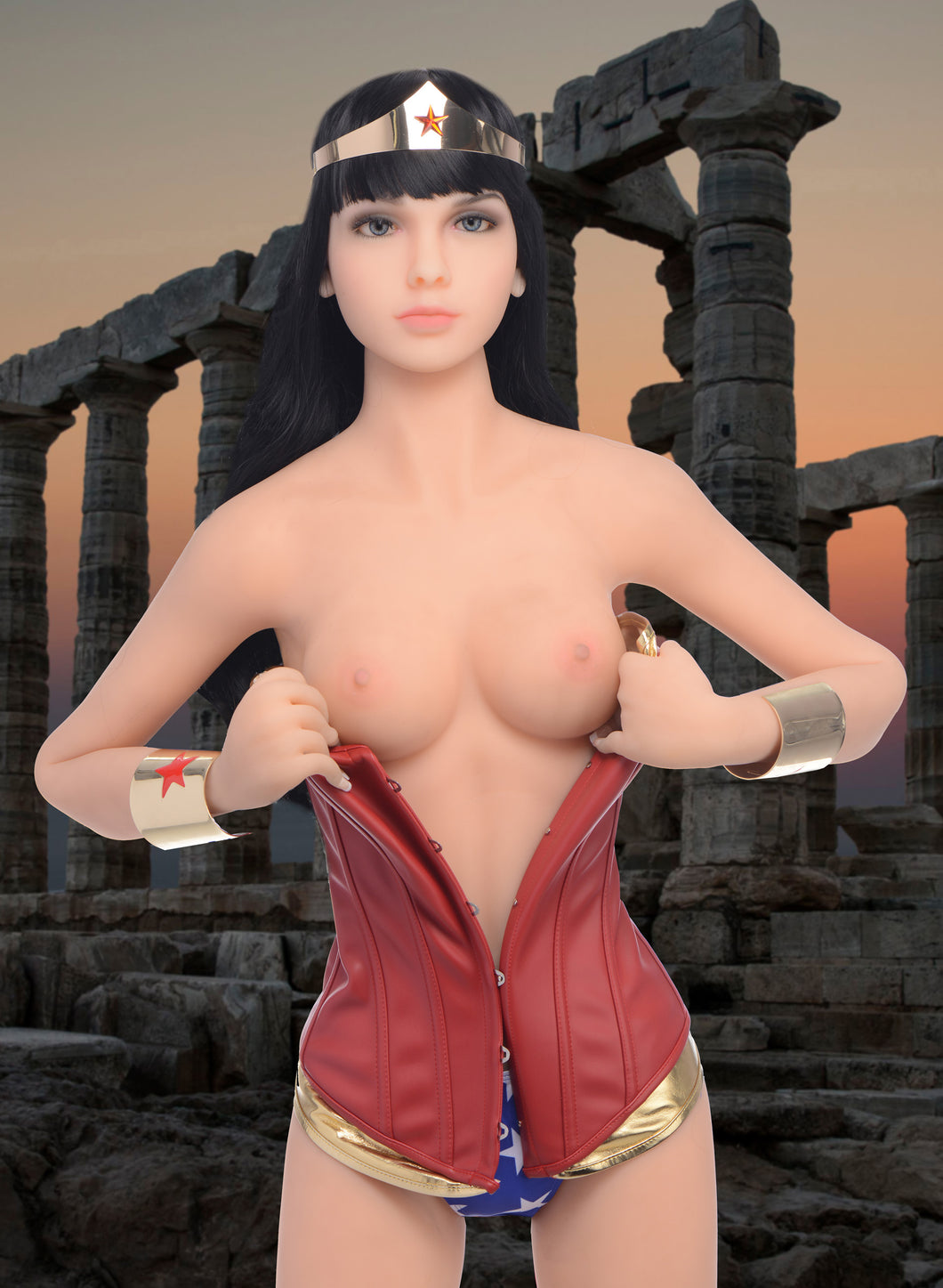 NextGen Dolls Super Hero Woman Fantasy Love Doll AG244,3D Masturbators