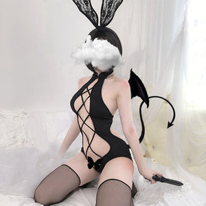 Sexy Women Anime Lingerie Babydoll Swimsuit Set Cute Underwear Cartoon Cosplay erotic Devil porno Costume Maid Bunny girl