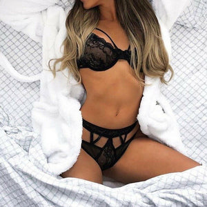 Women's Sexy Lingerie Sleepwear Lace V Neck Dress G-string Underwear Babydoll Nightwear