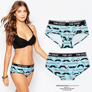 Pink Hero Cotton Fashion Brand Print Sexy Couples Lovers Underwear Character Women Low waist Briefs Ladies Panties