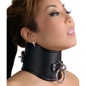 Strict Leather Strict Leather Locking Posture Collar- Large ST510-L,Leather Bondage Goods