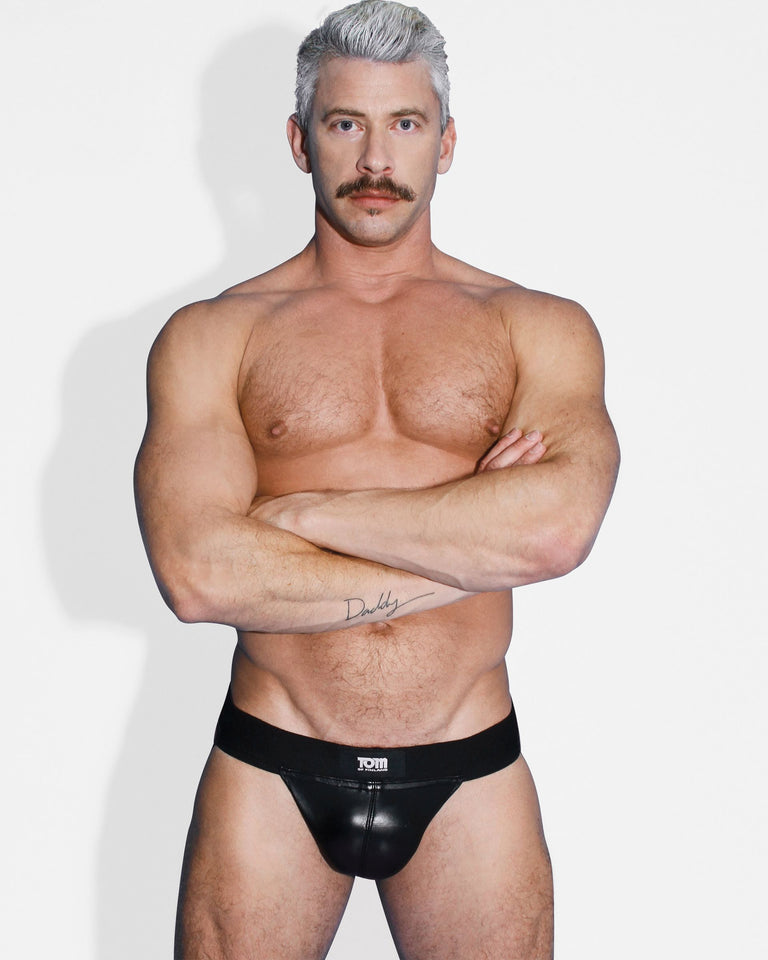 Tom of Finland Tom of Finland Leather Jock Strap- S-M TF5946,Mens Clothing