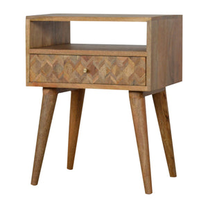 Assorted Bedside Table with Open Slot made from solid wood. Exclusive solid wood furniture available only at thecarpenters.co.uk