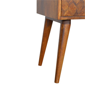 Assorted Chestnut Bedside with Open Slot. Beautifully hand-crafted perfect partner for any bed. Exclusively at thecarpenters.co,uk
