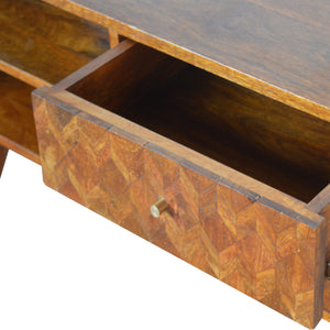 Assorted Chestnut Media Unit. Made from solid wood furniture, exclusively available at thecarpenters.co.uk