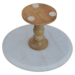 Baluster Cake Stand With Marble Top. Beautifully hand-crafted. Perfect for any occasions! Exclusively available at thecarpenters.co.uk.