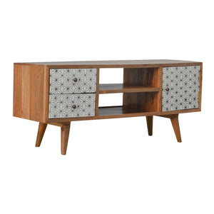 Bauhaus Screen Printed Media Unit solid wood furniture. Exclusive at thecarpenters.co.uk Furniture at its finest. 1999-2020