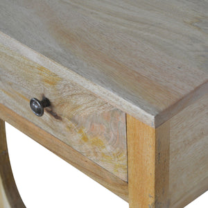 Bedside Table with Serpentine Feet Oak-Ish