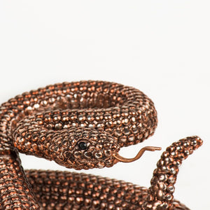 Bronze Coiled Rattlesnake Figurine. Intricately finished to a very high standard and make the perfect finishing touches for the home. Exclusively available at thecarpenters.co.uk.