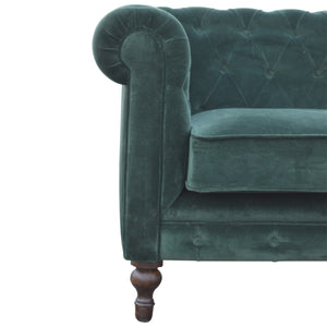 Centurio Emerald Green Velvet 2 Seater Sofa