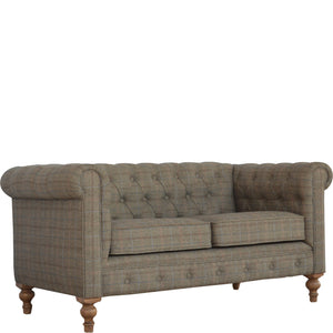Chesterfield 2 Seater Sofa Multi Tweed exclusive hand crafted furniture only available at thecarpenters.co.uk