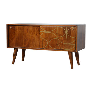 Chestnut Gold Inlay Abstract Sideboard. Hand-crafted to perfection. Exclusively available at thecarpenters.co.uk.