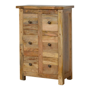 Country Style 6 Drawer CD Cabinet. Elegant solid wood cabinet hand-crafted to perfection. Exclusively available at thecarpenters.co.uk.