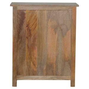 Solid wood 9 drawer chest in natural oak effect
