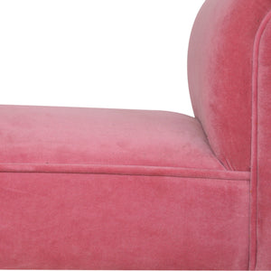 Emerino Bench In  Pink Velvet solid wood furniture, exclusively available at thecarpenters.co.uk