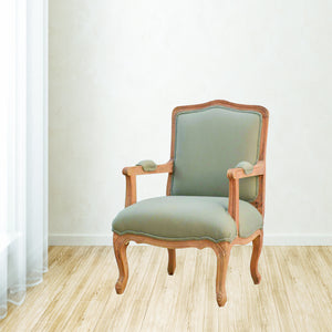 Formschön French Style Upholstered Arm Chair. Elegant looking hand-crafted solid wood furniture. Perfect for modern or classic home style. Exclusively available at thecarpenters.co.uk.