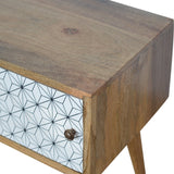 Glam Geometric Screen-Printed Door Media Unit. Hand-crafted to perfection. Exclusively available at thecarpenters.co.uk.