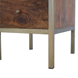 Gold Iron Frame Bedside. Hand-crafted to perfection. Exclusively available at thecarpenters.co.uk.