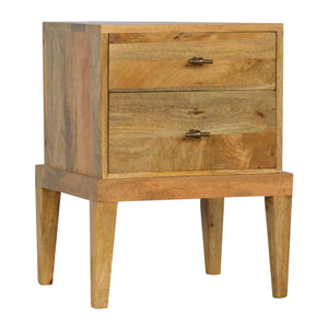 Mango Wood Bedside with T-Bar Knobs