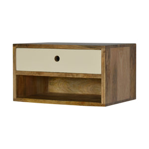 beautifully handcrafted Minimalistic Wall Mounted Bedside with Open Slot