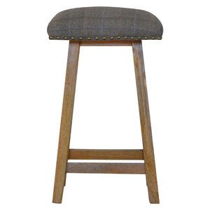 Multi Tweed Bar Stool. Beautifully hand-crafted solid wood furniture. Exclusively available at thecarpenters.co.uk.