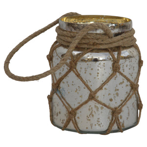 Mystic Glass Jar Lantern With Rope. Hand-crafted to perfection. Great addition to your lovely home. Exclusively available at thecarpenters.co.uk.