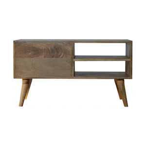 Nordic Diamond Carved TV Unit. Beautifully hand-crafted solid wood furniture. Great addition to your living room. Exclusively available at thecarpenters.co.uk.