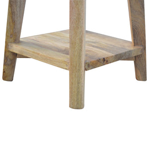 Bar stool Nordic carved in oak-ish, solid wood furniture made by hand