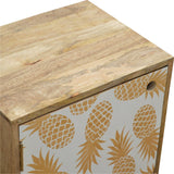 Beautiful hand-made pineapple printed front door bedside table
