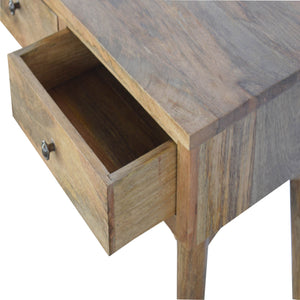 Nordic Style 3-Drawer Console Table. Perfect addition to your living room or hallway. Beautifully hand-crafted solid wood! Exclusively available at thecarpenters.co.uk.